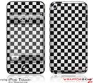 iPod Touch 4G Skin - Checkered Canvas Black and White