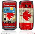 LG Vortex Skin Painted Faded and Cracked Canadian Canada Flag