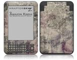 Pastel Abstract Gray and Purple - Decal Style Skin fits Amazon Kindle 3 Keyboard (with 6 inch display)