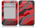 Camouflage Red - Decal Style Skin fits Amazon Kindle 3 Keyboard (with 6 inch display)