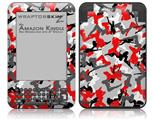 Sexy Girl Silhouette Camo Red - Decal Style Skin fits Amazon Kindle 3 Keyboard (with 6 inch display)