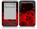 HEX Red - Decal Style Skin fits Amazon Kindle 3 Keyboard (with 6 inch display)