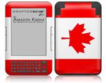 Canadian Canada Flag - Decal Style Skin fits Amazon Kindle 3 Keyboard (with 6 inch display)