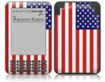 USA American Flag 01 - Decal Style Skin fits Amazon Kindle 3 Keyboard (with 6 inch display)