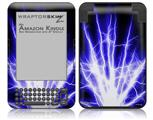 Lightning Blue - Decal Style Skin fits Amazon Kindle 3 Keyboard (with 6 inch display)