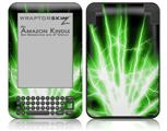 Lightning Green - Decal Style Skin fits Amazon Kindle 3 Keyboard (with 6 inch display)