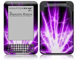 Lightning Purple - Decal Style Skin fits Amazon Kindle 3 Keyboard (with 6 inch display)