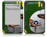 WWII Bomber War Plane Pin Up Girl - Decal Style Skin fits Amazon Kindle 3 Keyboard (with 6 inch display)