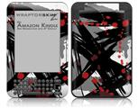 Abstract 02 Red - Decal Style Skin fits Amazon Kindle 3 Keyboard (with 6 inch display)