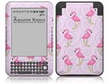 Flamingos on Pink - Decal Style Skin fits Amazon Kindle 3 Keyboard (with 6 inch display)