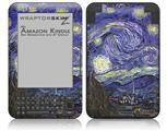 Vincent Van Gogh Starry Night - Decal Style Skin fits Amazon Kindle 3 Keyboard (with 6 inch display)