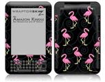 Flamingos on Black - Decal Style Skin fits Amazon Kindle 3 Keyboard (with 6 inch display)