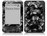 Skulls Confetti White - Decal Style Skin fits Amazon Kindle 3 Keyboard (with 6 inch display)