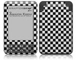 Checkered Canvas Black and White - Decal Style Skin fits Amazon Kindle 3 Keyboard (with 6 inch display)