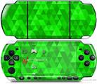 Sony PSP 3000 Decal Style Skin - Triangle Mosaic Green