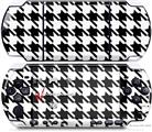 Sony PSP 3000 Decal Style Skin - Houndstooth Black and White
