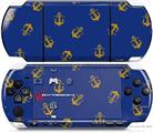 Sony PSP 3000 Decal Style Skin - Anchors Away