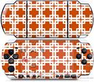 Sony PSP 3000 Decal Style Skin - Boxed Burnt Orange