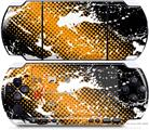 Sony PSP 3000 Decal Style Skin - Halftone Splatter White Orange