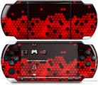Sony PSP 3000 Decal Style Skin - HEX Red