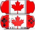 Sony PSP 3000 Decal Style Skin - Canadian Canada Flag