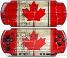 Sony PSP 3000 Decal Style Skin - Painted Faded and Cracked Canadian Canada Flag