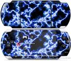 Sony PSP 3000 Decal Style Skin - Electrify Blue