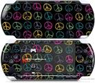 Sony PSP 3000 Decal Style Skin - Kearas Peace Signs on Black