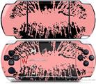Sony PSP 3000 Decal Style Skin - Big Kiss Lips Black on Pink