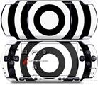 Sony PSP 3000 Decal Style Skin - Bullseye Black on White