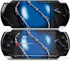 Sony PSP 3000 Decal Style Skin - Barbwire Heart Blue