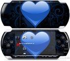 Sony PSP 3000 Decal Style Skin - Glass Heart Grunge Blue