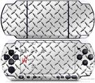 Sony PSP 3000 Decal Style Skin - Diamond Plate Metal