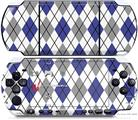 Sony PSP 3000 Decal Style Skin - Argyle Blue and Gray