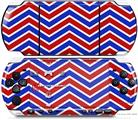 Sony PSP 3000 Decal Style Skin - Zig Zag Red White and Blue