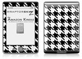 Houndstooth Black and White - Decal Style Skin (fits 4th Gen Kindle with 6inch display and no keyboard)