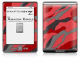 Camouflage Red - Decal Style Skin (fits 4th Gen Kindle with 6inch display and no keyboard)