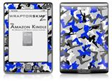 Sexy Girl Silhouette Camo Blue - Decal Style Skin (fits 4th Gen Kindle with 6inch display and no keyboard)