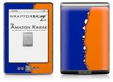 Ripped Colors Blue Orange - Decal Style Skin (fits 4th Gen Kindle with 6inch display and no keyboard)