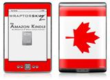 Canadian Canada Flag - Decal Style Skin (fits 4th Gen Kindle with 6inch display and no keyboard)