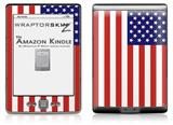 USA American Flag 01 - Decal Style Skin (fits 4th Gen Kindle with 6inch display and no keyboard)