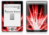 Lightning Red - Decal Style Skin (fits 4th Gen Kindle with 6inch display and no keyboard)