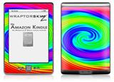 Rainbow Swirl - Decal Style Skin (fits 4th Gen Kindle with 6inch display and no keyboard)