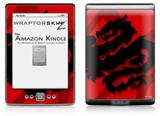 Oriental Dragon Black on Red - Decal Style Skin (fits 4th Gen Kindle with 6inch display and no keyboard)