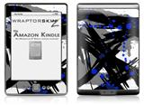 Abstract 02 Blue - Decal Style Skin (fits 4th Gen Kindle with 6inch display and no keyboard)