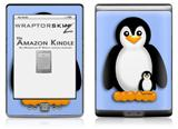 Penguins on Blue - Decal Style Skin (fits 4th Gen Kindle with 6inch display and no keyboard)