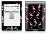 Flamingos on Black - Decal Style Skin (fits 4th Gen Kindle with 6inch display and no keyboard)