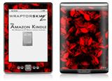Skulls Confetti Red - Decal Style Skin (fits 4th Gen Kindle with 6inch display and no keyboard)