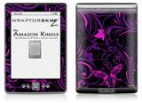 Twisted Garden Purple and Hot Pink - Decal Style Skin (fits 4th Gen Kindle with 6inch display and no keyboard)
