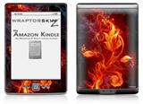 Fire Flower - Decal Style Skin (fits 4th Gen Kindle with 6inch display and no keyboard)